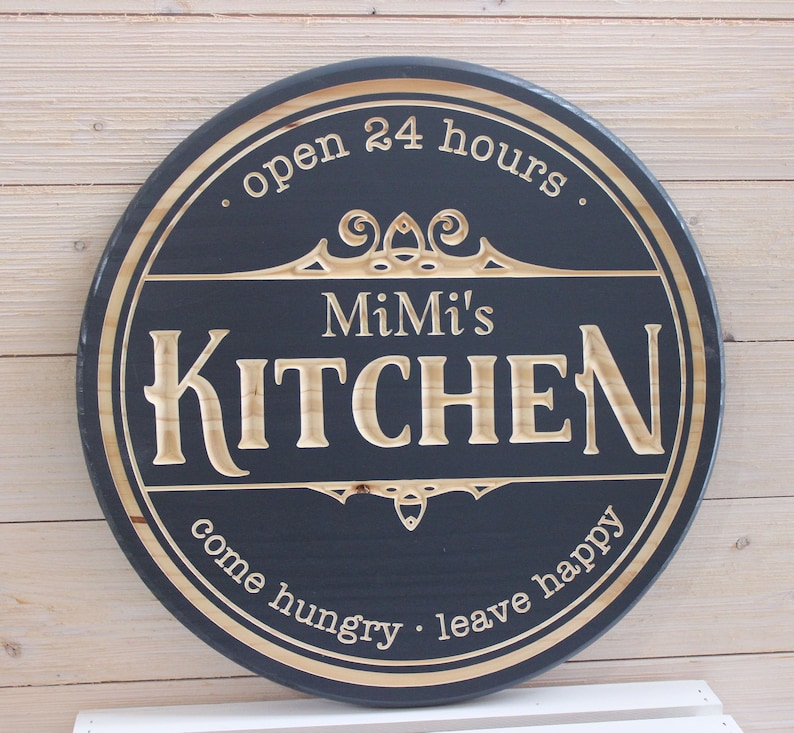 Personalized Kitchen Sign Kitchen Signs Carved Signs Farmhouse Signs Custom Kitchen Sign Mimi Gigi Nanna Signs Mother S Day Gifts