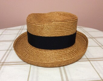 98d374e7e9c84 Vintage Banana Republic Straw Hat Made in Italy