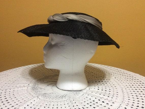 Vintage Wide Brim Straw Tilt Hat - image 4