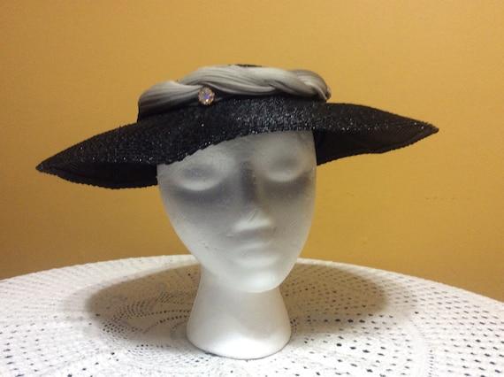 Vintage Wide Brim Straw Tilt Hat - image 5