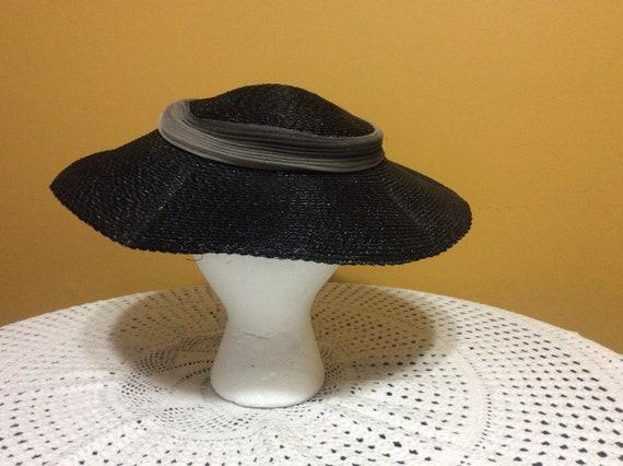 Vintage Wide Brim Straw Tilt Hat - image 3