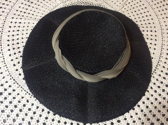 Vintage Wide Brim Straw Tilt Hat - image 6