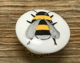 SET OF SIX, 1.5u201d,bumblebee,bees,cabinet Knobs,drawer Pulls,mushroom Style  Knob,yellow And Black Knobs,bumble Bee Knobs,bee Themed Decor