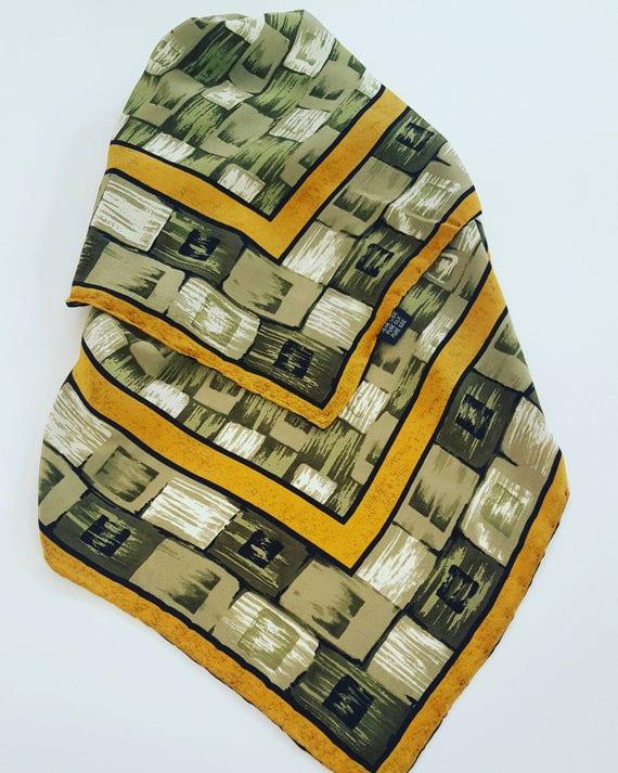 Handkerchief vintage seventies pure silk