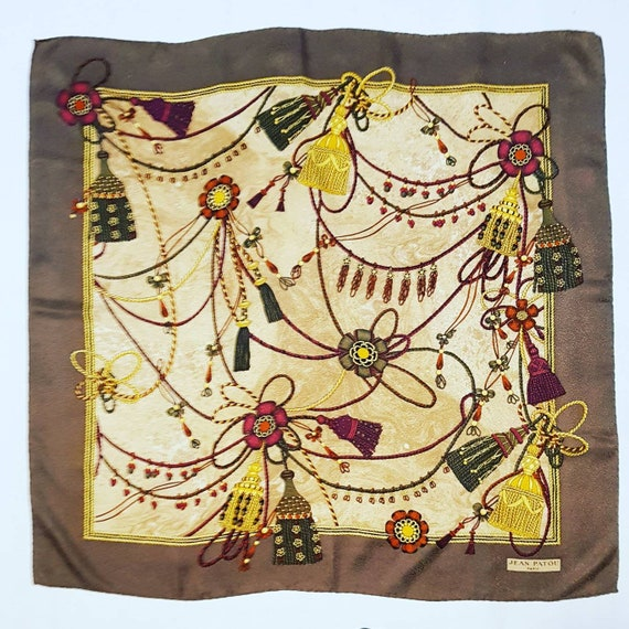 Jean Patou vintage scarf
