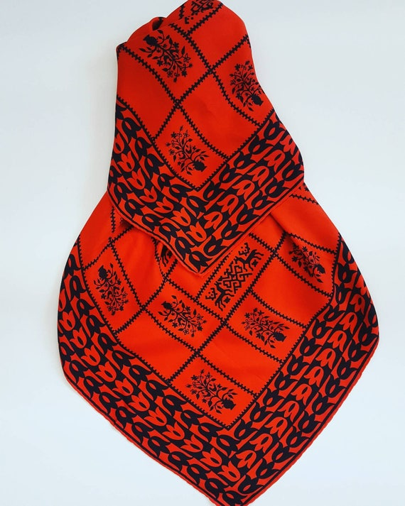 Pure silk red scarf