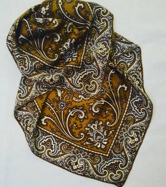Pure silk scarf vintage. Seventies