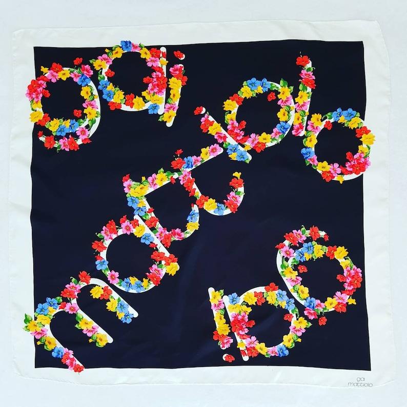 half off 47771 2c949 Gai Mattiolo foulard vintage in pura seta