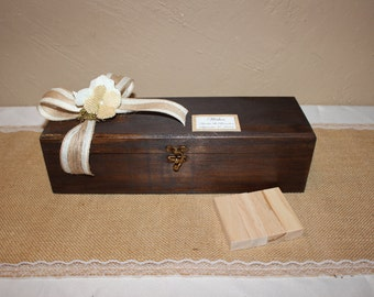 Rustic Wedding  Wishes Box /Rustic Wooden Puzzle  Wedding Box / Wedding Wishes Box