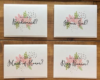 Will You Be My.. Card // Bridesmaid Gift // Maid of Honor Gift // Flower Girl Gift // Bridesmaid Proposal // Will You Be My Bridesmaid