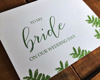 To My.. Card // To My Bride Card // To My Groom Card // Wedding Day Card