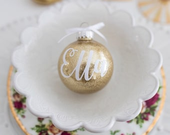 Personalized Christmas Ornament // Custom Name Ornament