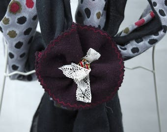 Clip hair scarf or headscarf, removable and very stable when put in place. fashion accessory. idea