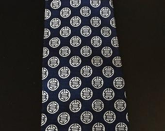 Dark Navy Blue Suit Necktie, Men's Necktie