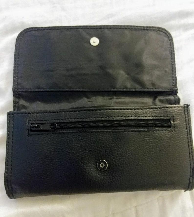 jack skellington Disney inspired clutch stocking stuffer leather bi-fold wallet Halloween nightmare before Christmas Womens Wallet