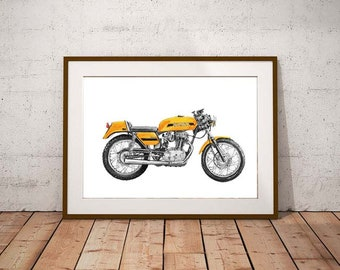 Classic Motorcycle Gift Motorcyclist Gift Ducati Gifts Ducati Ducati Print Gift Men Motorcyle Gift Ducati Gift Ideas Ducati Motorcyclist