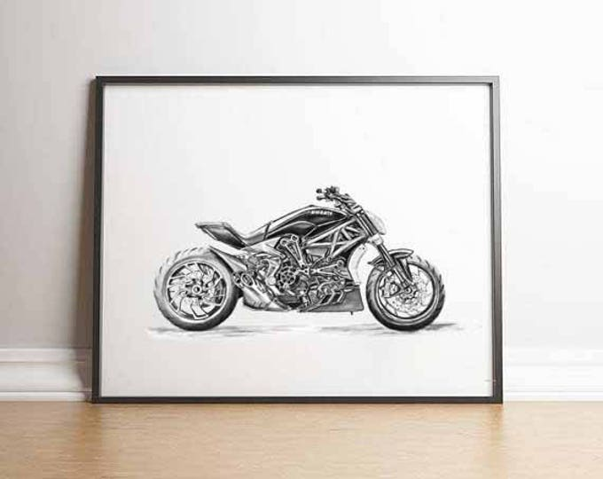 Featured listing image: Superbike Motorcyclist Gift Ducati Gifts Ducati Ducati Print Gift Men Motorcycle Gift Ducati Gift Ideas Ducati Motorcyclist Ducati
