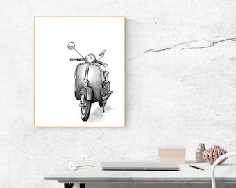 Vespa Print Gift Boyfriend Gift Gifts for Men Gifts for Boyfriend Instant Download Dad Gift Printable Boyfriend Print Printable Valentines