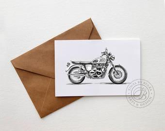 Triumph Bonneville Triumph Motorcycle Classic Motorcycle Gift Men Motorcycle Gift Motorcyclist Gift British Motorcycle Motorcycle Gift Him