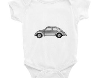 VW Beetle VW Beetle Art VW Beetle Baby Funny Baby Gift Hipster Onesies Tintabybulka Baby Bodysuit Hipster Baby Clothes Baby Girl Gift Cute O