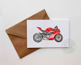 Ducati Gift Ideas Ducati Ducati V4 Men Motorcycle Gift Card For Dad Ducati Print Gift Boyfriend Card Boyfriend Birthday