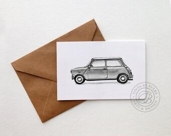 BMW Mini Cooper Mini Cooper Art Mini Classic Mini Cooper Mini Mini Cooper Lover Teenager Print Boyfriend Card Boyfriend Birthday