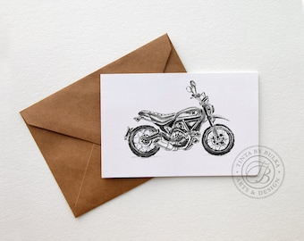 Scrambler Ducati Gift Ideas Ducati Ducati Gifts Men Motorcycle Gift Card For Dad Ducati Print Gift Boyfriend Card Boyfriend Birthday