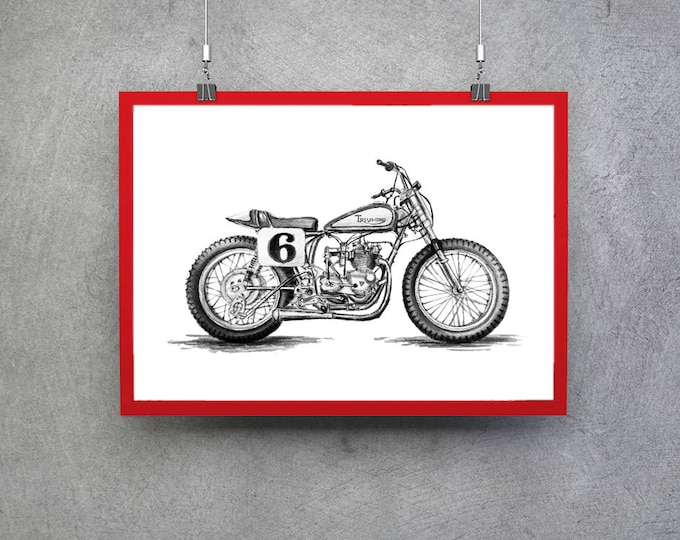 Featured listing image: British Motorcycle Triumph Bonneville Gift Men Motorcycle Gift Triumph Gift Motorcycle Gift Him Triumph Motorcycle Classic Motorcycle