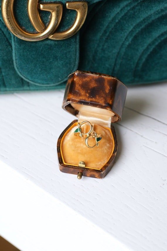 Vintage Gucci horsebit enameled gold ring, 70s - image 1