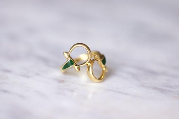 Vintage Gucci horsebit enameled gold ring, 70s - image 3