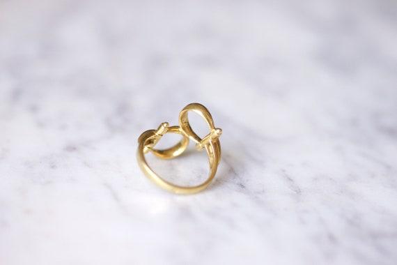 Vintage Gucci horsebit enameled gold ring, 70s - image 8