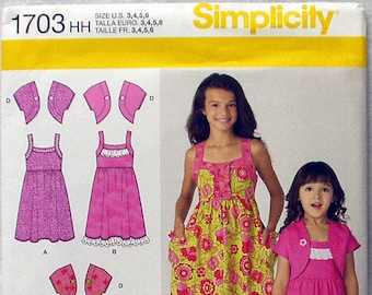 Simplicity Pattern 1703 Sizes: 3,4,5,6