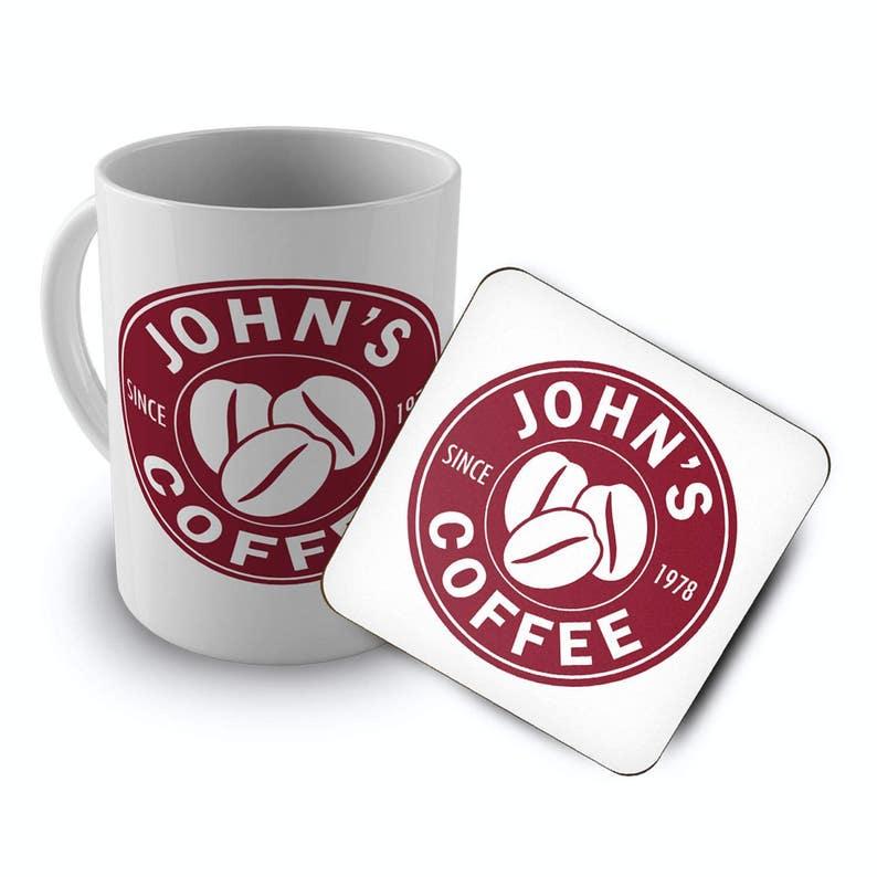 Costa Customised Includes Gift Of Coffee Set Birth Novelty Personalised Theme Coaster Mugamp; Nameyear e29WDYIEHb