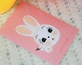 Print 10X15cm illustration rabbit twine