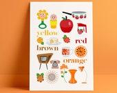 Decorative A4 poster: vintage colours