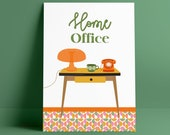 Vintage design poster / mid century home office