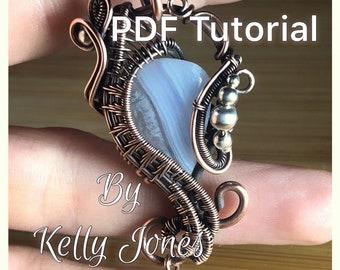 Ariel Frame Pendant Tutorial by Kelly Jones. An instant download PDF file.