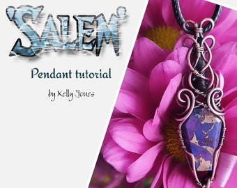 This Wire Wrap Tutorial 'Salem' is an instant download and has 57 pages and over 300 high quality images to follow along at your owb pace