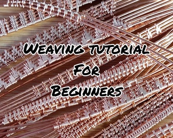 Learn weaving. A guide to weaving for beginners through to advanced levels. Wire wrap weave designs to use in your jewellery making projects