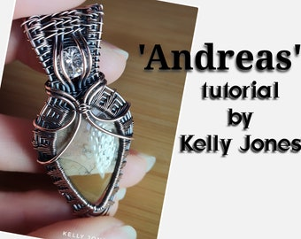 Andreas Unisex Pendant Tutorial by Kelly Jones. A 47 page instant download with and over 170 high quality images to follow along.