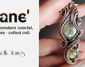 This Wire Wrap Tutorial 'Zane' is a frame pendant tutorial, with 70 pages and over  350 high quality images. KJJ