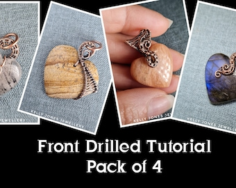 Front Drilled Bundle Pack. This pack consists of 4 tutorials for front drilled stones. Tutorials included are - Anne, Lisa, Pam, and Sue.