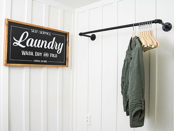 Industrial Laundry Room Drying Clothing Rack Plumbing Pipe Etsy