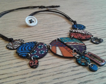 Handmade Colourful Necklace -  Boho necklace - Earth Colors - CUSTOM ORDER - choose your colors