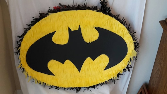 Large Superheroes Batman Spiderman Inspired Piñata Made To Etsy