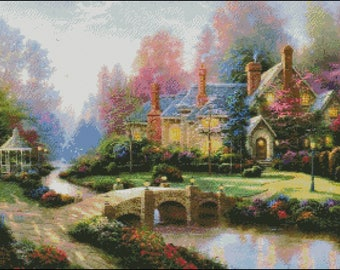 House Counted Cross Stitch Pattern in PDF.