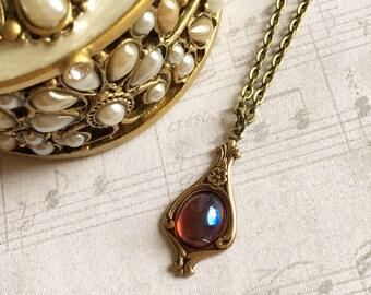 Fire Opal Necklace, Fire Opal Jewelry, Fire Opal Pendant, Dragons Breath Necklace, Dragons Breath Opal Necklace, Dragons Breath Opal Jewelry