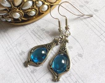Blue Stone Earrings, Blue Earrings, Blue Stone Jewelry, Stone Earrings, Blue Jewelry, Aqua Earrings, Blue Drop Earrings, Mothers Day Gift