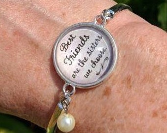 Friendship Bracelet Stacking Bangle Quote Jewelry Soul Sister Sisters We Choose Best Friend Gift Ideas For Her Birthday BFF Thank You