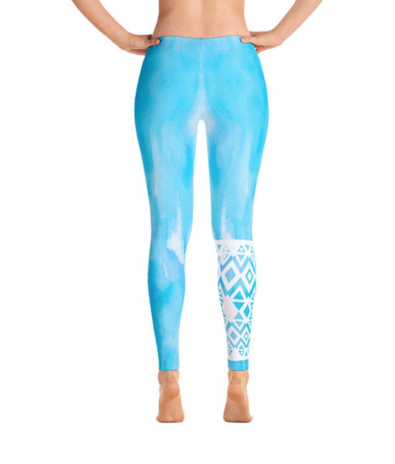 Aqua Freeflow Tribal Leggings